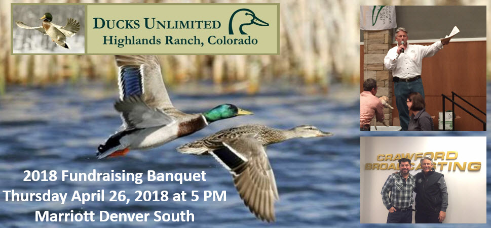 Scotrt Whatley Emcee of Highlands Ranch Ducks Unlimited Banquet 2018
